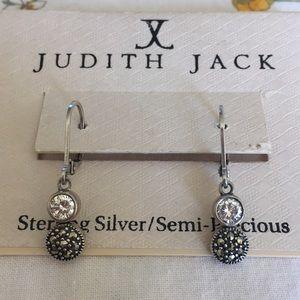 Judith Jack Sterling Silver Marcasite Earrings